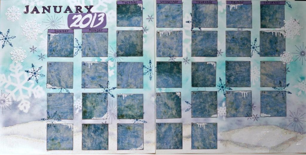 Artful Adventures Art Journal Calendar_January