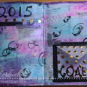 Art Journaling – Pocket with Hidden New Year's Goals