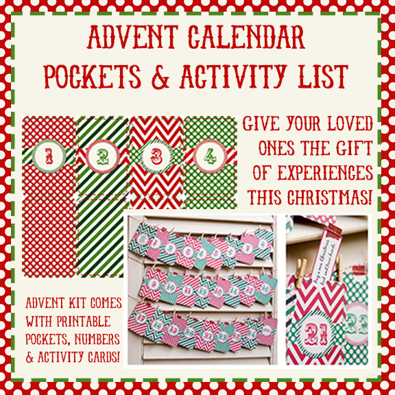 Creative Christmas Bundle Advent Calendar Pockets  and Activities