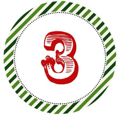 Number 3 Advent Numbers by Connie Hanks