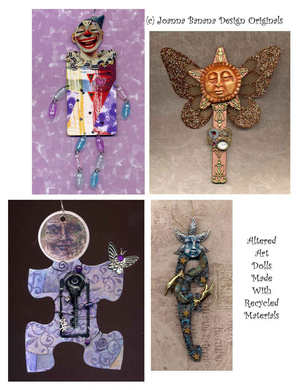 Altered Art Dolls From Recycled Materials Joanna Banana
