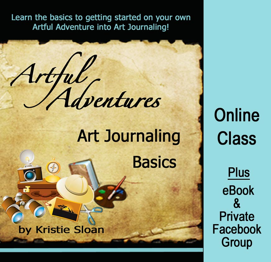 Art Journaling Basics online class with eBook bonus!