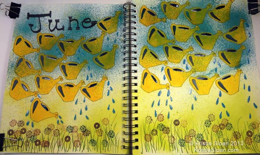 Artful Adventures June Art Journal Calendar