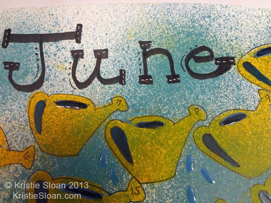 Handwritten June Title