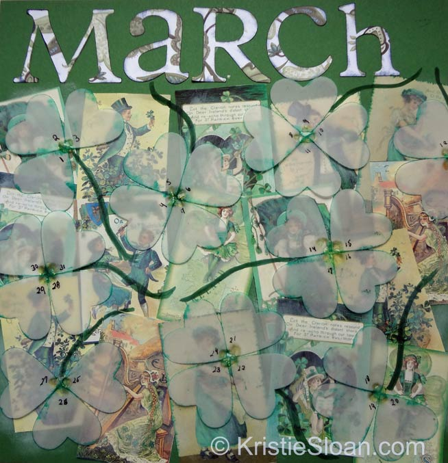 Artful-Adventures-Kristie-Sloan_March-Art-Journal-Calendar-Scrapbook-Page