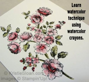 Watercolor Crayon Techniques