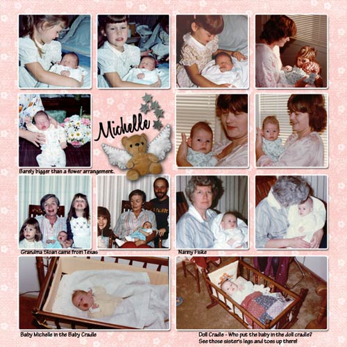 baby layout with 16 photo grid