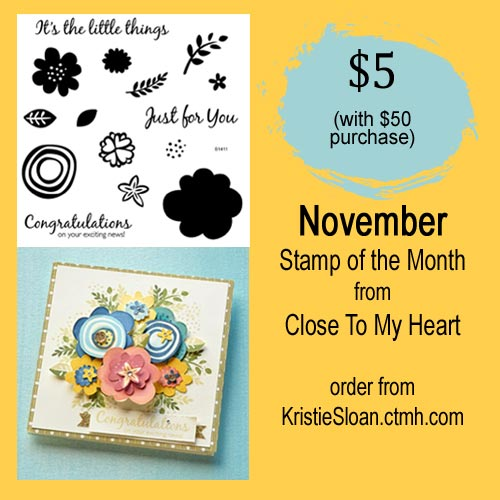 It's the Little Things, CTMH November Stamp of the Month