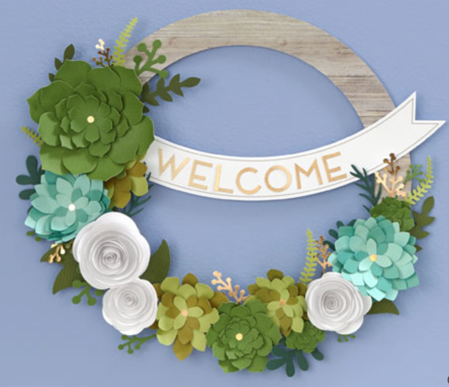 ctmh paper crafting month welcome wreath