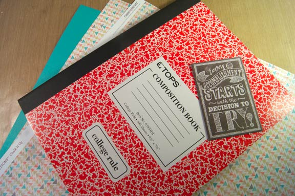 Chalk It Up notebook supplies