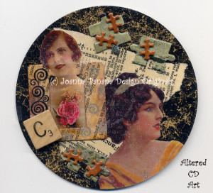 Charming Recycled CD Art by Joanna Grant