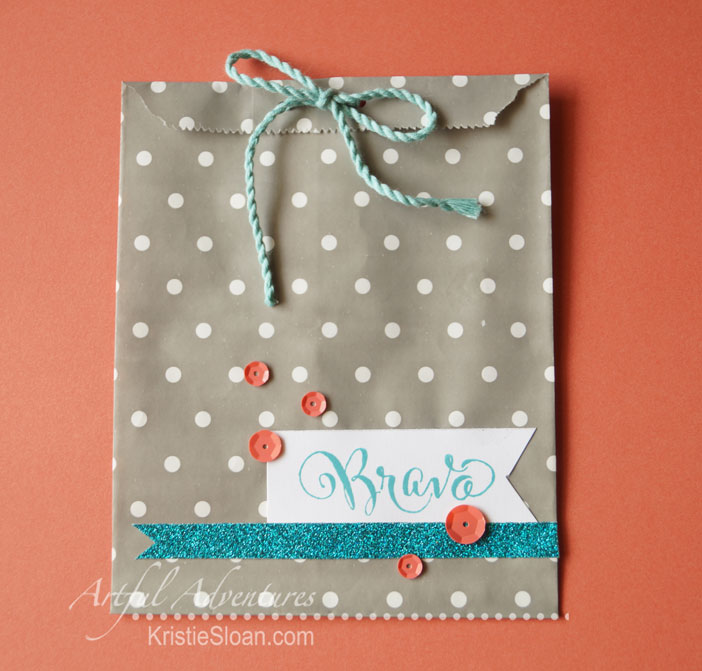 Quick little favor bag with CTMH slate bags