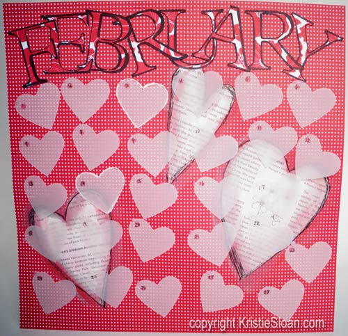 Artful Adventures February-Heart-Punch-Art-Calendar_FullPage-Kristie-Sloan