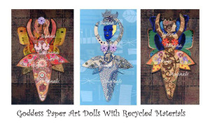 Goddess Paper Art Dolls by Joanna Grant