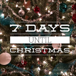 7 days until christmas