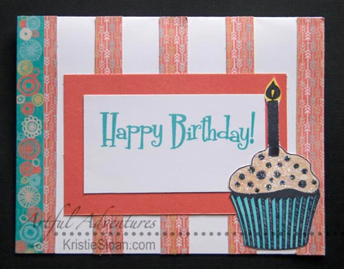 A card inspired by a scrap of paper from the Chalk It Up paper pack.
