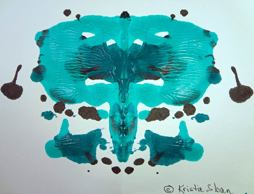 Kristie Sloan Ink and Paint Blots