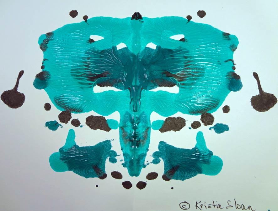 Kristie Sloan Ink and Paint Blots