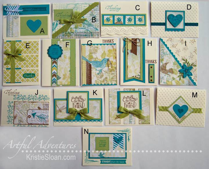 CTMH Skylark paper coded one sheet wonder cards