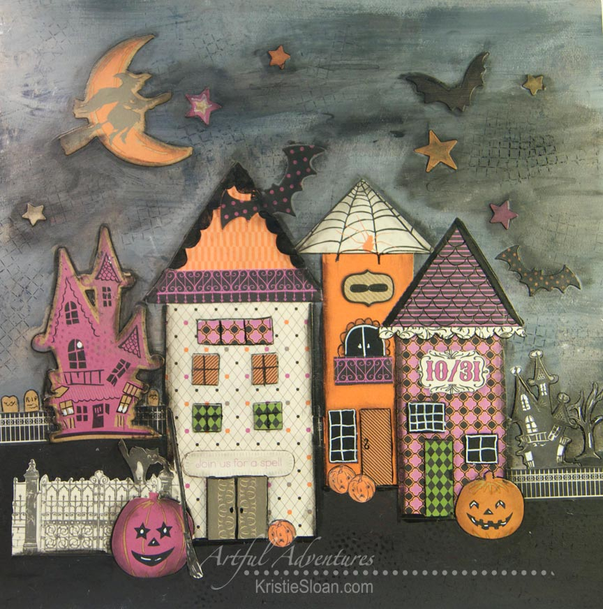 Halloween Mixed Media Decor Item