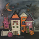 Mixed Media Halloween Wall Decor