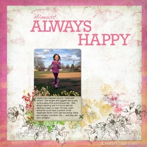 Artful Adventures Kristie Sloan Always Happy Scrapbook Layout