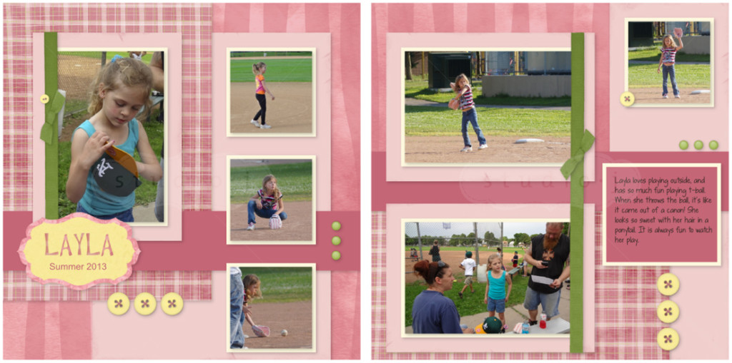 tball digital scrapbook layout