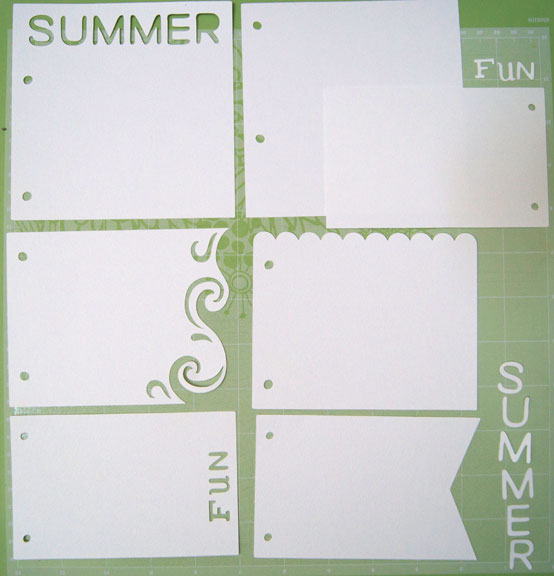 Mini summer art journal from Cricut Artbooking cartridge