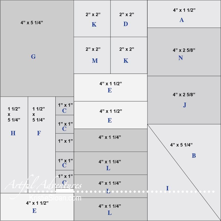 One Sheet Wonder Skylark cutting diagram
