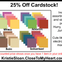 25% Off Cardstock Sale