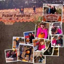 Pumpkin Patch 12 Photo Scrapbook Layout