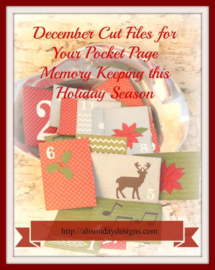 Creative Christmas Bundle December Pocket Page Cut Files