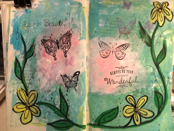 Sample Art Journaling Page #1