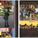School Theme Scrapbook Layout