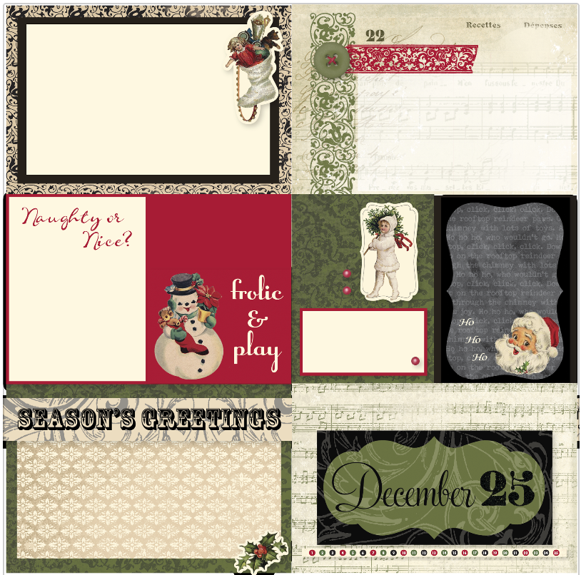 Yuletide pocket cards
