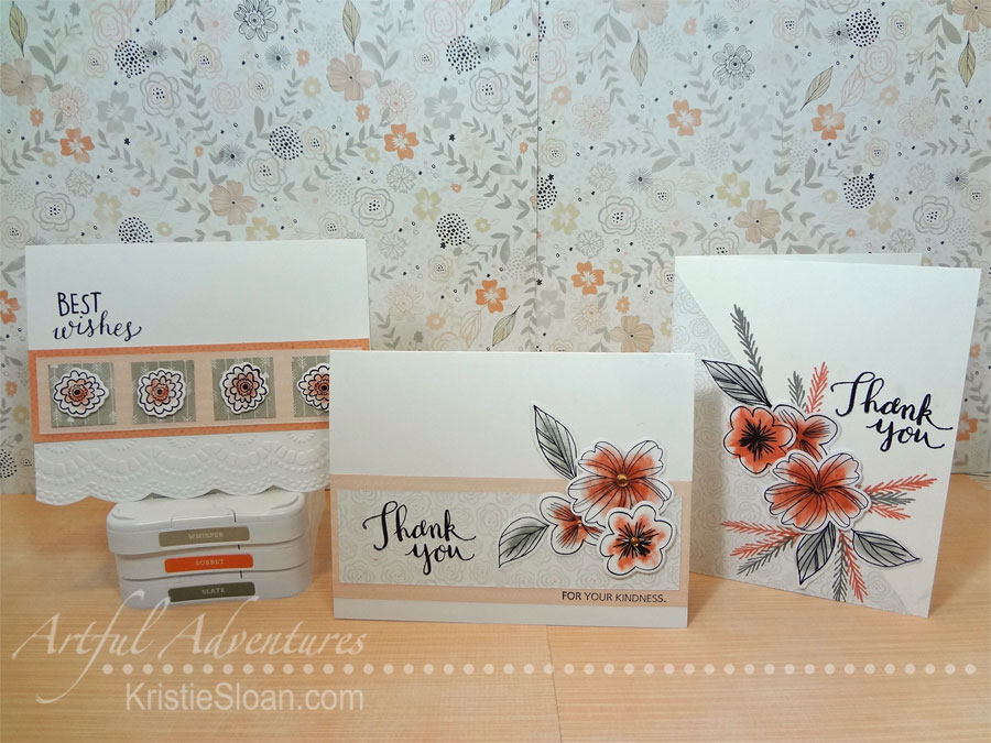 Charlotte Paper Pack and Springtime Wishes stamp set and Springtime Wishes Thin Cuts.