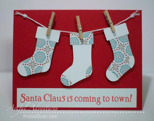 Artful Adventures Christmas stocking card