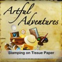 Stamping on Tissue Paper