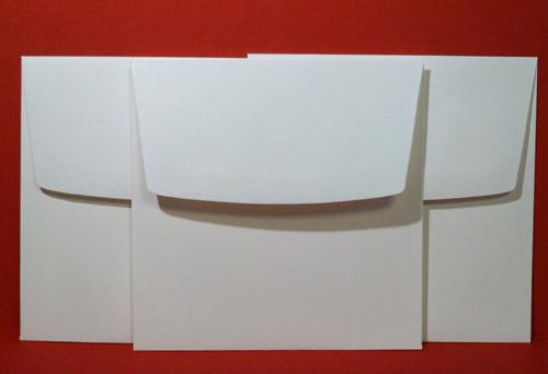Three square envelopes