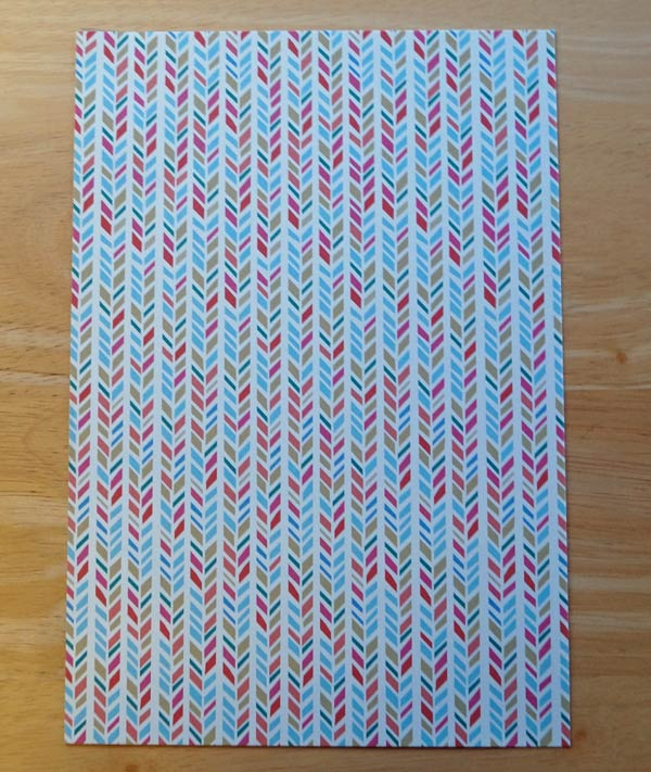 "Patterned paper, 6 1/2"" x 9 1/2"""