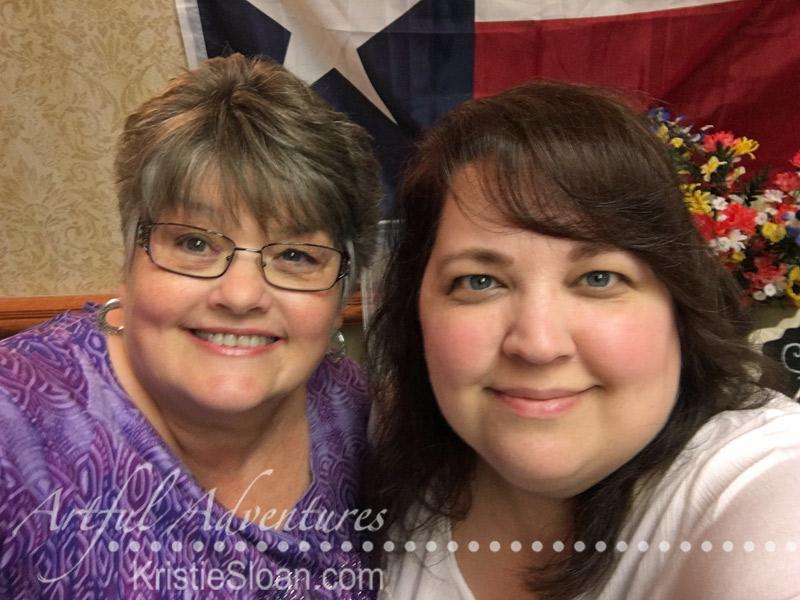 Kristie Sloan with Tracie Claiborne