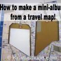 Travel Map 1 Sheet Mini Album Scrapbook
