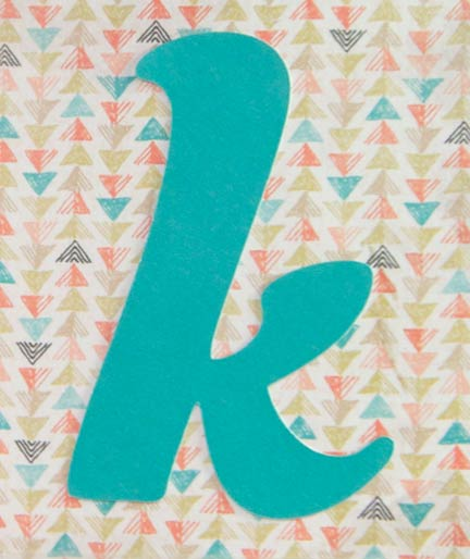 Lowercase k from the CTMH Cricut Artbooking  cartridge