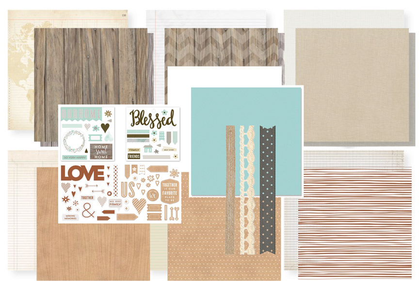 rustic-home-fundamentals scrapbook club october