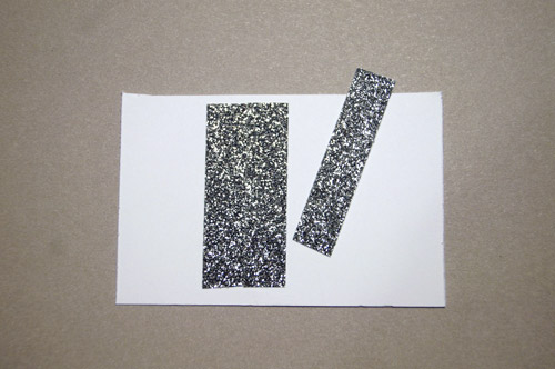 shimmer trim strips on card stock
