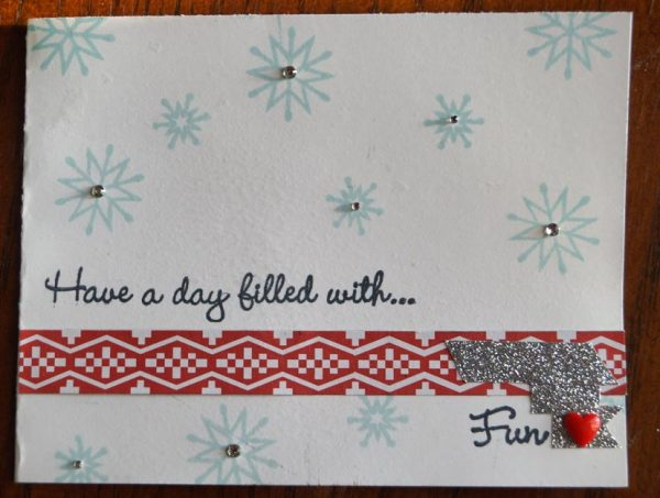 A few scraps can be pulled together for a quick card.