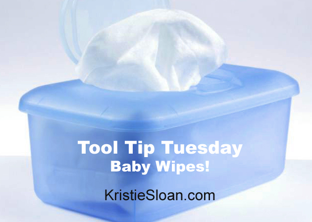 Baby wipes - the unsung hero of the craft room!