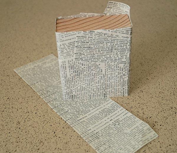 Paper adhered to the blocks.