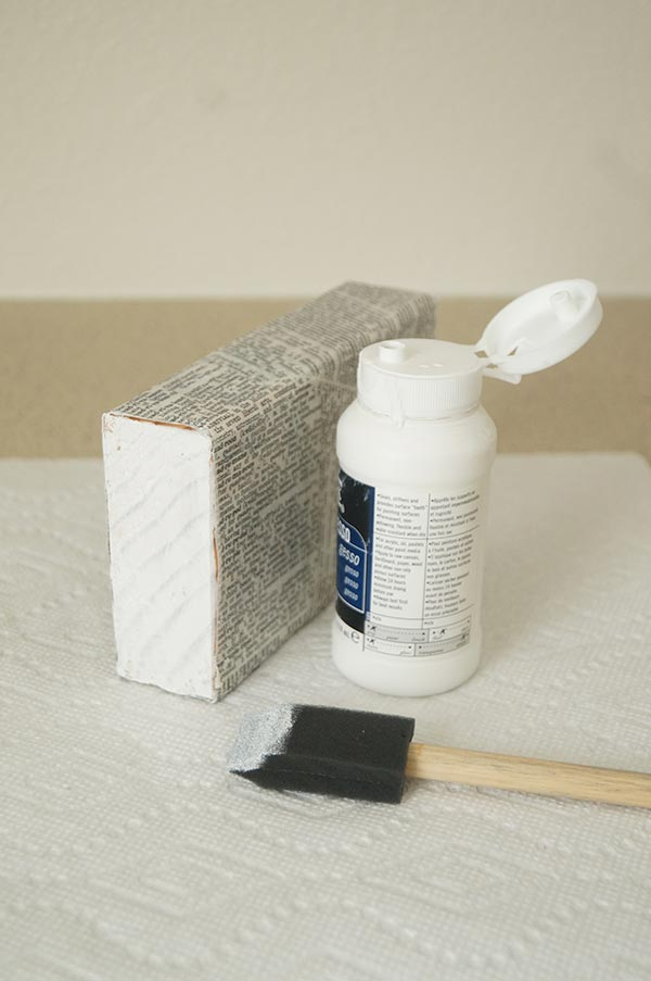 Gesso or paint the end of the blocks.