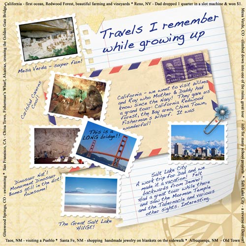vacations scrapbook layout